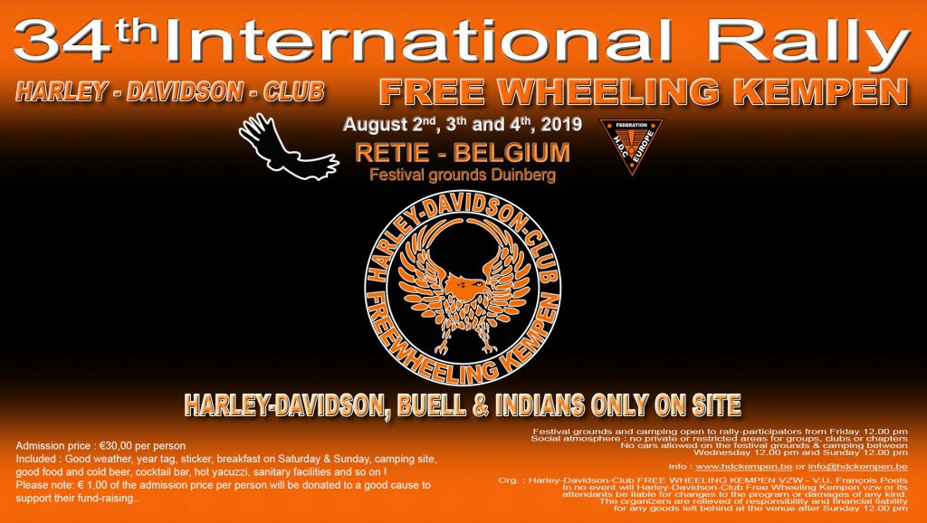 Int. Harley-Davidson, Buell & Indian-Rally 2019