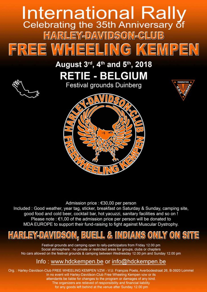 Int. Harley-Davidson, Buell & Indian-Rally 2018, Retie - België